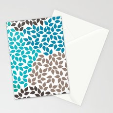 Blue leafs Stationery Cards