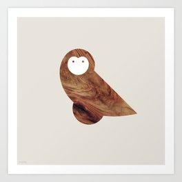 Minanimals: Owl Art Print