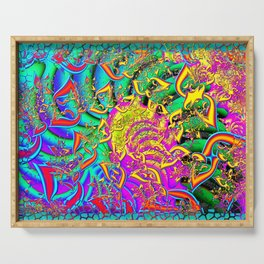 Like Candy Psychedelic 3D Abstract Serving Tray