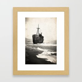 black pearl Framed Art Print
