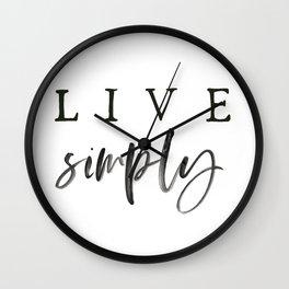 Live Simply Art Wall Clock