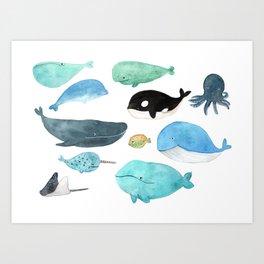 Deep in the sea Art Print