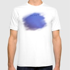 Blue Red Sky Mens Fitted Tee White MEDIUM