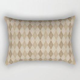 Textured Argyle in Tan and Beige Rectangular Pillow