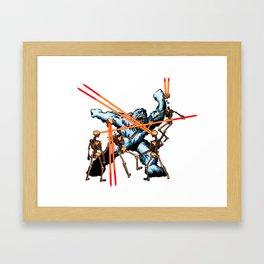 Yeti vs. Laser Skeletons Framed Art Print