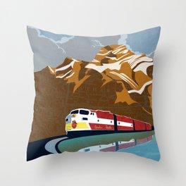 vintage CP rail poster Throw Pillow