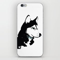 Siberian Husky Dog Art iPhone & iPod Skin