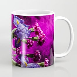 Purple Floral Smoke Bouquet  Coffee Mug