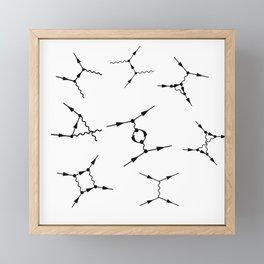 Feynman diagram Framed Mini Art Print