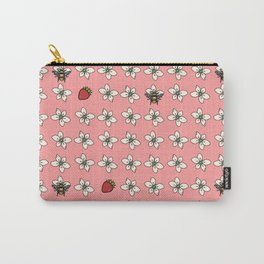 Precious Bee Pattern Pink Carry-All Pouch