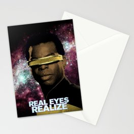 Geordi: Real Eyes Realize Stationery Cards