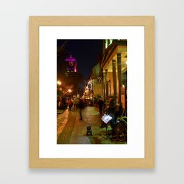 Saxophonist and the Blurry Observer Framed Art Print