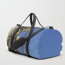 River Birch Bark up against the blues Duffle Bag