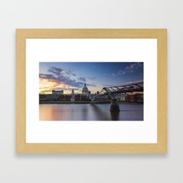 Sunset over St Paul's Cathedral Framed Art Print