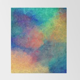Reflecting Multi Colorful Abstract Prisms Design Throw Blanket