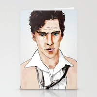cumberbatch Stationery Cards featuring Benedict Cumberbatch by Alisha Henry