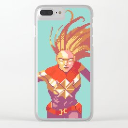 Woman In Rage Clear iPhone Case