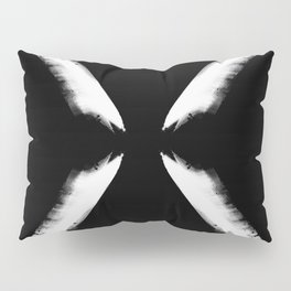 Refracted Moon - Black and white Pillow Sham