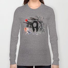 Japanese Geisha Warrior Long Sleeve T-shirt