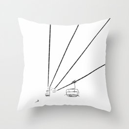 Sky lift Throw Pillow