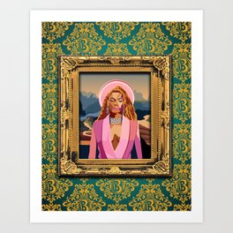 Queen B in the Louvre Art Print