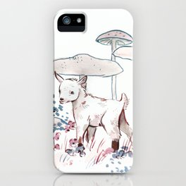 Small Goat or Huge Mushrooms iPhone Case