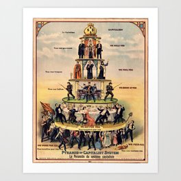 Pyramid of the Capitalist System Art Print