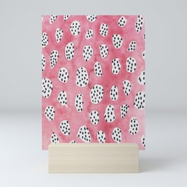 Abstract VI: pink camouflage h Mini Art Print