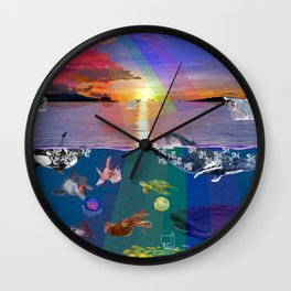 Canticle of the Sea Wall Clock