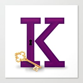 K is for Key Canvas Print