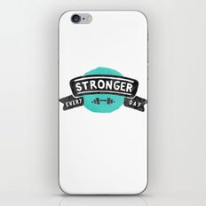 Stronger Every Day (dumbbell) iPhone & iPod Skin
