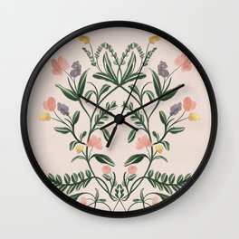 Modern Folk Art Wall Clock