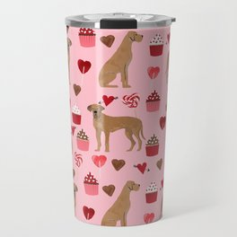 Great Dane valentines day cupcakes love hearts dog gifts must have pure breed great danes dog patter Travel Mug