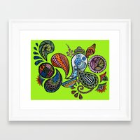 paisley Framed Art Prints featuring Paisley by Sketchii Studio