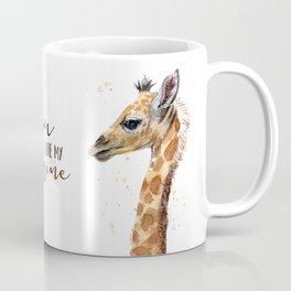 You Are My Sunshine Giraffe Nursery Animals Watercolor Art Coffee Mug