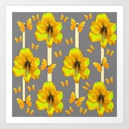 "AMARYLLIS ""  LOVE OF BUTTERFLIES""   DECO Art Print"