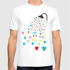 Love shower Mens Fitted Tee MEDIUM White