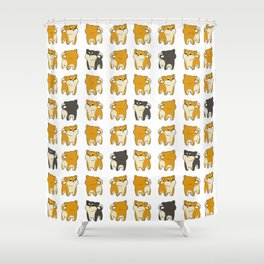 Many Shibs Shower Curtain