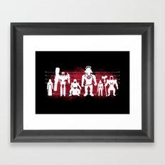 Plastic Villains  Framed Art Print