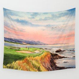 Pebble Beach Golf Course Hole 7 Wall Tapestry
