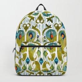 indian cucumbers balinese ikat print mini Backpack