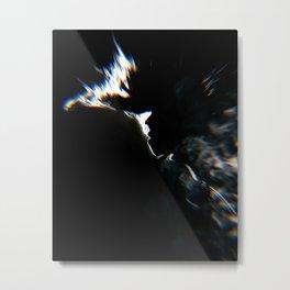 Smoky face Metal Print
