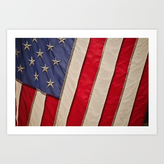The flag of the United States of America Art Print