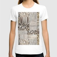 wood T-shirts featuring Wood by LebensART