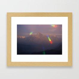 The Machapuchare Shine Framed Art Print