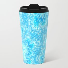 Abstract Christmas Aqua Blue Branches. Cute nature pattern Travel Mug