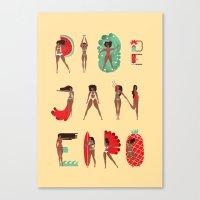 rio de janeiro Canvas Prints featuring Rio de Janeiro by Bea R Vaquero