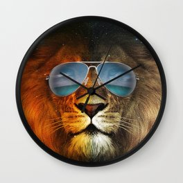 Cool Lion Face Wall Clock