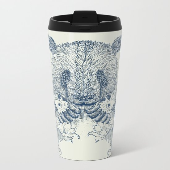 Panda Tattoo Metal Travel Mug