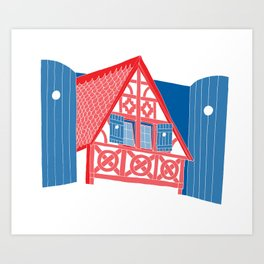 French House Art Print